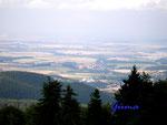 P8030001. Blick vom Inselsberg ins westliche Thüringer Becken 1.