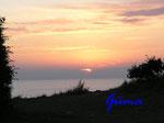 P8281185 Sonnenuntergang an der Ostsee von Blankeck Richtung Kiel gesehen