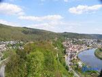 P4110107 Blick vom Turm  der Hinterburg auf Neckarsteinach  im Hessischen Neckartal