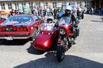 Beim ersten Oldtimertreffen mit dem BMW-Gespann - in Osterwieck