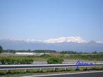 P5100011 Italien  nördlich Turin Blick auf die schneebedeckten Alpengipfel