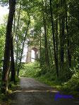 P5310414   Der Weg zum Kaiser Wilhelm-Denkmal am Osthang des Wittekindsberges von Westen gesehen