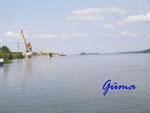 P4250318 Blick über die Donau beim Fährhafen Vidin in Bulgarien