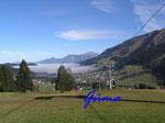 PA221461  im Kleinenwalsertal -  Blick auf Hirschegg vom Cafe Walserblick aus