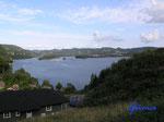 P8200733 Blick auf Lyngdalselva bei Lyngdal/Norwegen/Vestagder