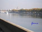 Pb020001 Südfrankreich: Blick auf die Rhone bei Lyon