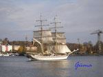 Pa240002 Segelschiff im Stockholmer Hafen. Der Name war leider nicht zu erkennen.
