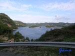 P8200732 Blick auf Lyngdalselva bei Lyngdal/Norwegen/Vestagder