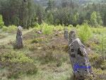 P1010028 Steinsetzung in Tingvatn 1. An dieser Stelle war früher die Gerichtbarkeit bzw. ein Versammlungsort - Tingplatz.