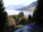 PA221459  im Kleinenwalsertal - Schwarzwassertalstrasse - Blick auf Hirschegg