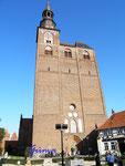 P9270607 St. Stephanskirche in Tangermünde.  Wurde in mehreren Bauabschnitten errichtet, 1617 ausgebrannt, Kirche ist bekannt durch die Scherer Orgel von 1624.
