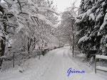 P1030674 Winterimpressionen - Hornburg - untere Judengasse im Schnee