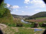 P4110101 Blick vom Burghof der Hinterburg auf  Neckarsteinach  im Hessischen Neckartal