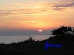 P8281184 Sonnenuntergang an der Ostsee von Blankeck Richtung Kiel gesehen