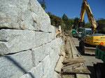 Natursteinmauer erstellen, Bachenbülach, Eberhard Gartenbau AG
