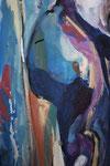 Spiegelwelten 2 Ausschnitt 2 ©  Nathalie Arun, Öl, Dispersion, 3 x 2 m auf Leinwand