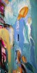 Spiegelwelten 2 Ausschnitt 6 ©  Nathalie Arun, Öl, Dispersion, 3 x 2 m auf Leinwand