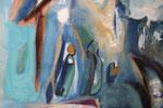 Spiegelwelten 2 Ausschnitt 7 ©  Nathalie Arun, Öl, Dispersion, 3 x 2 m auf Leinwand