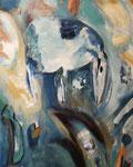 Spiegelwelten 2 Ausschnitt 8 ©  Nathalie Arun, Öl, Dispersion, 3 x 2 m auf Leinwand