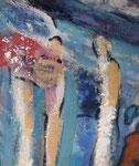 Spiegelwelten 2 Ausschnitt 5 ©  Nathalie Arun, Öl, Dispersion, 3 x 2 m auf Leinwand
