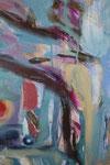 Spiegelwelten 2 Ausschnitt 11 ©  Nathalie Arun, Öl, Dispersion, 3 x 2 m auf Leinwand