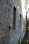 Süd-West-Außenmauer des Haupttraktes.