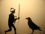 brother meets crow who tells him the way to witch s house