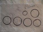 Draw washers onto transparent plastic.