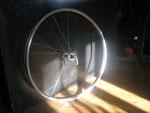 Use an old bike wheel as a source for bike spokes.