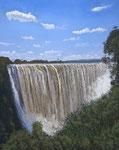 Oliver Kohls, Victoria Falls, Pastell, ca 60x40cm, 2014
