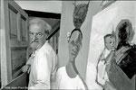 Dr Ralph Lillford, artiste peintre dans son atelier à Osterley (Londres) - 1986