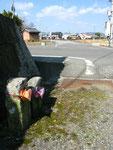 福崎町八千種の道標、26年2月23日再撮影