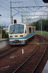 反対車線の近江鉄道ワンマンカー