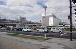 北条口門方面から再開発中の姫路駅を望む