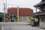 本日のゴール、鳥居本駅の駅舎
