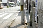 高砂市横町三叉路の風景