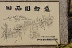 伊丹市内の西国街道説明板