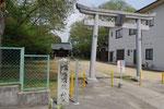 五霊天神社前の道標