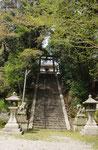 蝉丸神社、階段は登りませんでした