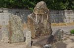 国道313で見かけた事代主命(えびす様)の石像