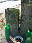 加西市王子町墓地前の道標、左の道標