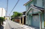 魚橋周辺の街並み、土田家住宅郵便局舎