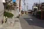寺本1丁目の道標と西国街道