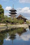 京阪国道口からの東寺