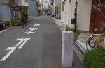 都島通りから分岐の標識、京橋口から2.3㌔とある