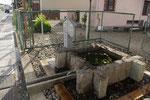 街道筋に再現された金田池