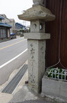 書写東坂口の道標(正面、右面)
