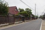 唯念寺西側の街道風景