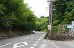 桜峠、星の子館前