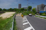 横町の道標付近の天井川